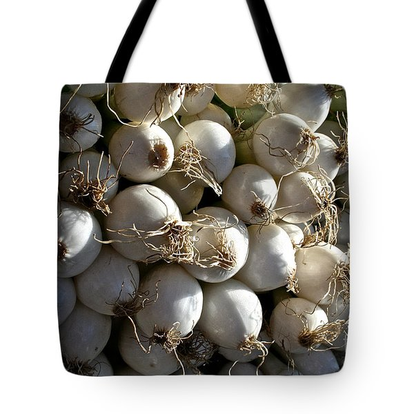 White Onions Tote Bag by Susan Herber