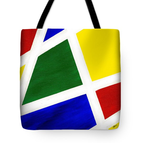 White Stripes 6 Tote Bag by Hakon Soreide