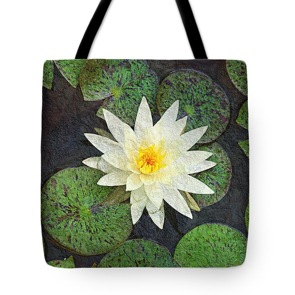 White Water Lily Tote Bag by Andee Design