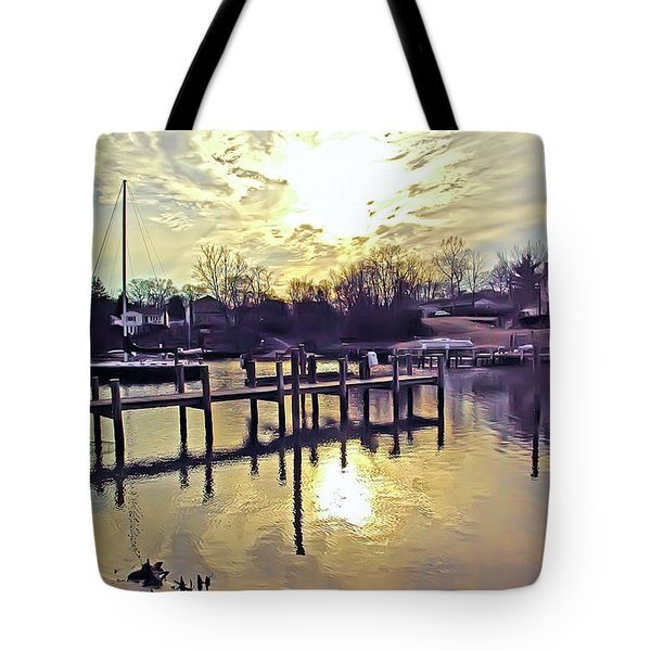 White's Cove In Winter Tote Bag by Brian Wallace