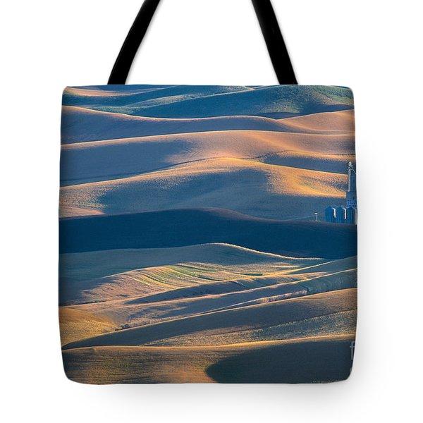 Whitman County Grain Silo Tote Bag by Sandra Bronstein