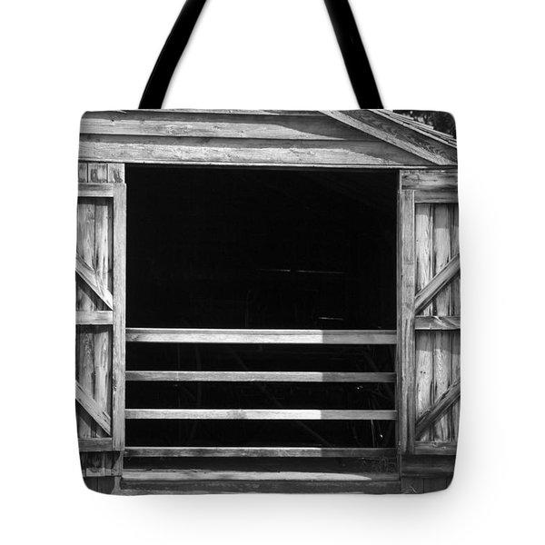 Who Opened The Barn Door Tote Bag by Teresa Mucha