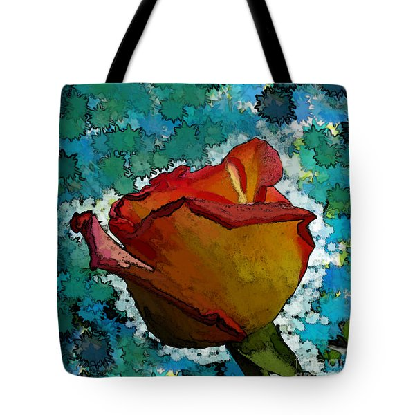 Wild And Crazy Rose Bud Tote Bag by Debbie Portwood