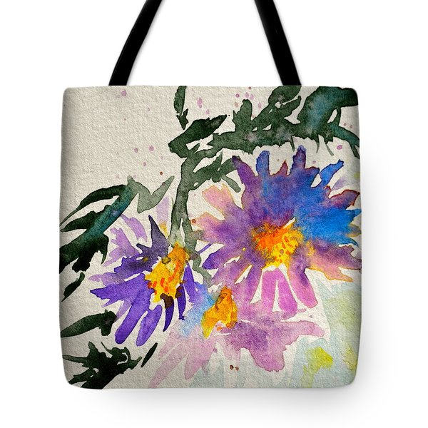Wild Asters Tote Bag by Beverley Harper Tinsley