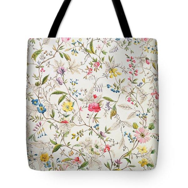 Wild Flowers Design For Silk Material Tote Bag by William Kilburn