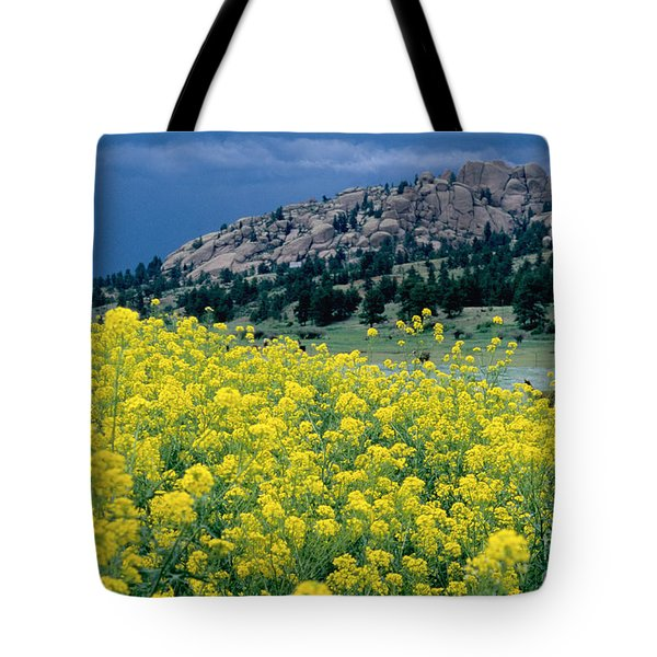 Wild Mustard Tote Bag by James Steinberg and Photo Researchers