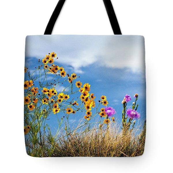 Wildflower Weed Tote Bag by Tamyra Ayles