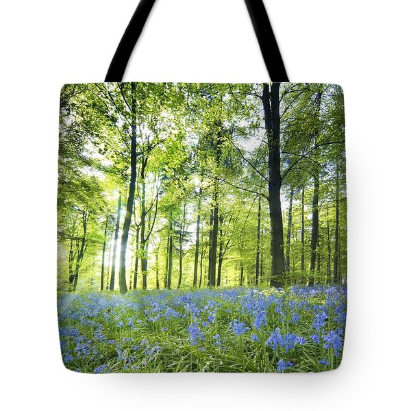 Wildflowers In A Forest Of Trees Tote Bag by John Short