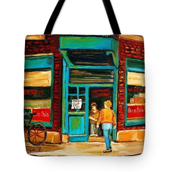 Wilensky's Restaurant Tote Bag by Carole Spandau