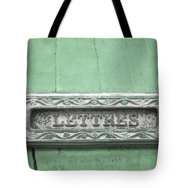 Will You Write - Jade Green Letter Box Tote Bag by Nomad Art And  Design