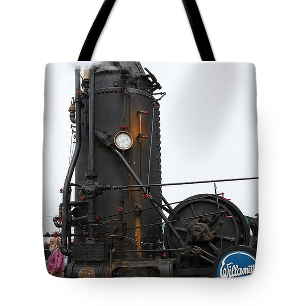 Willamette Steam Engine 7d15105 Tote Bag by Wingsdomain Art and Photography