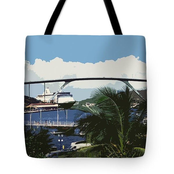 Willemstad - Curacao Tote Bag by Juergen Weiss