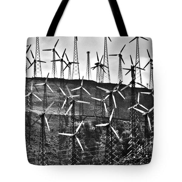 Windmills by Tehachapi  Tote Bag by Susanne Van Hulst