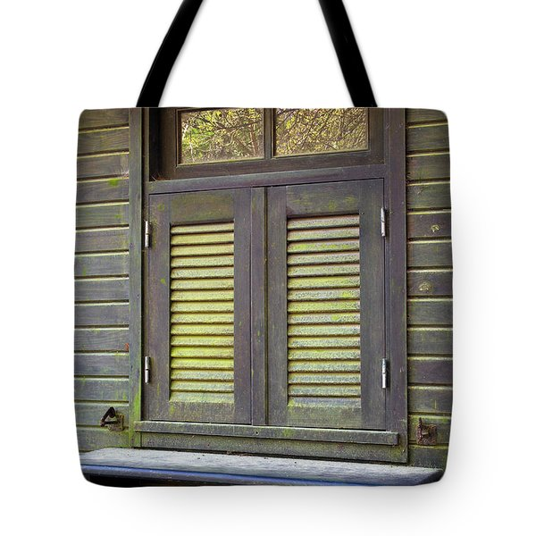 Window and moss Tote Bag by Carlos Caetano