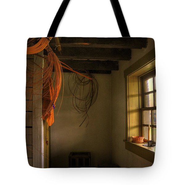Window On A Rainy Day Tote Bag by Lois Bryan