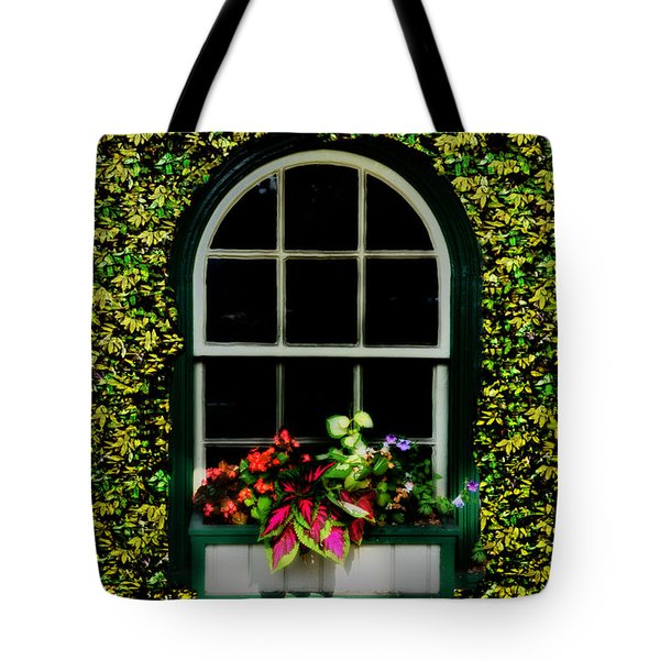 Window On An Ivy Covered Wall Tote Bag by Bill Cannon