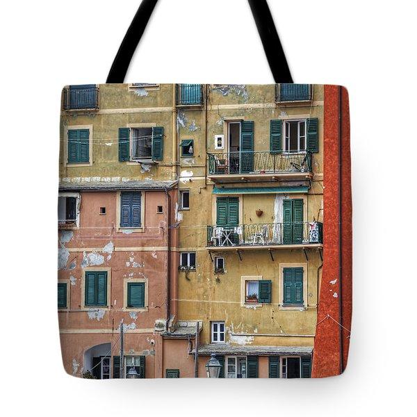 Windows of Camogli Tote Bag by Joana Kruse