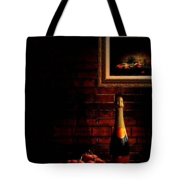 Wine and Grape Tote Bag by Lourry Legarde