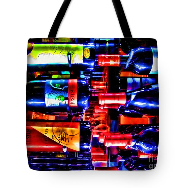 Wine Bottles Tote Bag by Joan  Minchak