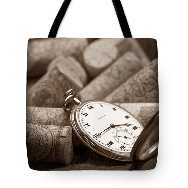Wine Corks Still Life Vi Aged To Perfection Tote Bag by Tom Mc Nemar