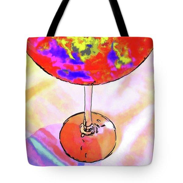 Wine Perpective Tote Bag by Joan  Minchak