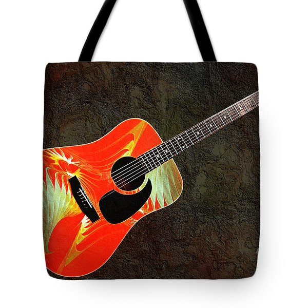 Wings Of Paradise Abstract Guitar Tote Bag by Andee Design