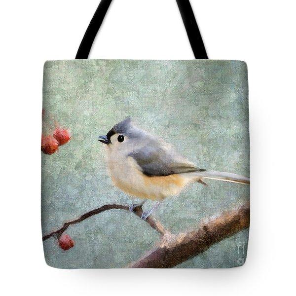 Winter Berries Tote Bag by Betty LaRue