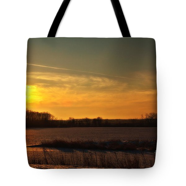 Winter Country Sunset Tote Bag by Joel Witmeyer