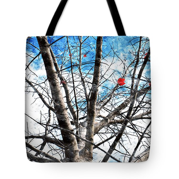 Winter Is Near Tote Bag by Andee Design