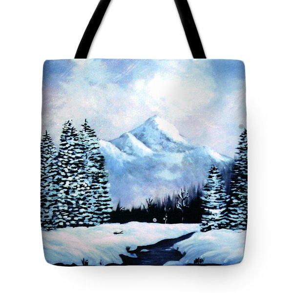 Winter Mountains Tote Bag by Phyllis Kaltenbach