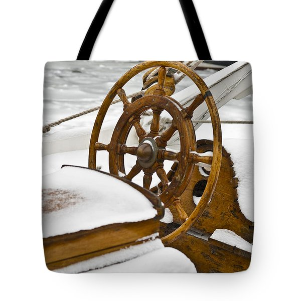 Winter on Board Tote Bag by Heiko Koehrer-Wagner