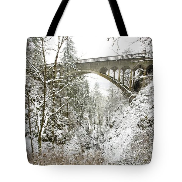 Winter, Shepperds Dell, Columbia River Tote Bag by Craig Tuttle