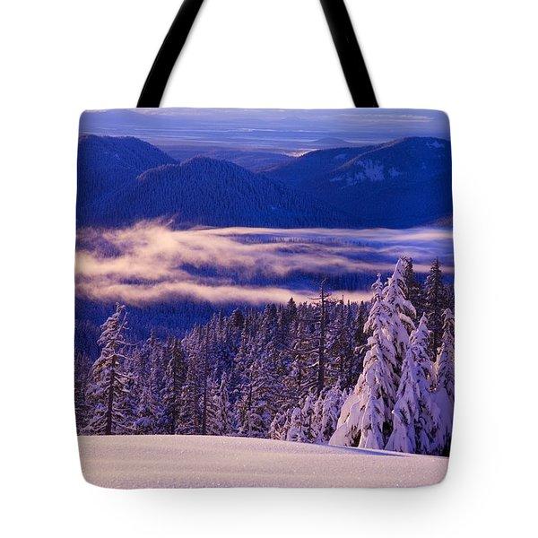 Winter Snow, Cascade Range, Oregon, Usa Tote Bag by Craig Tuttle