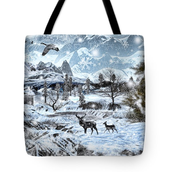 Winter Wonderland Tote Bag by Lourry Legarde