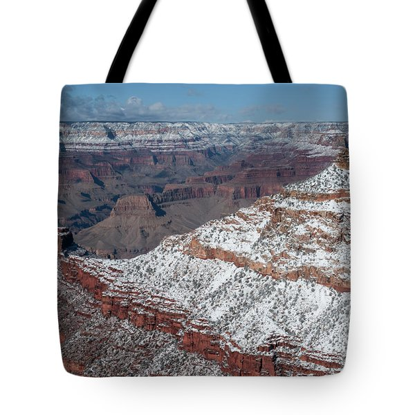 Winter's Touch At The Grand Canyon Tote Bag by Sandra Bronstein