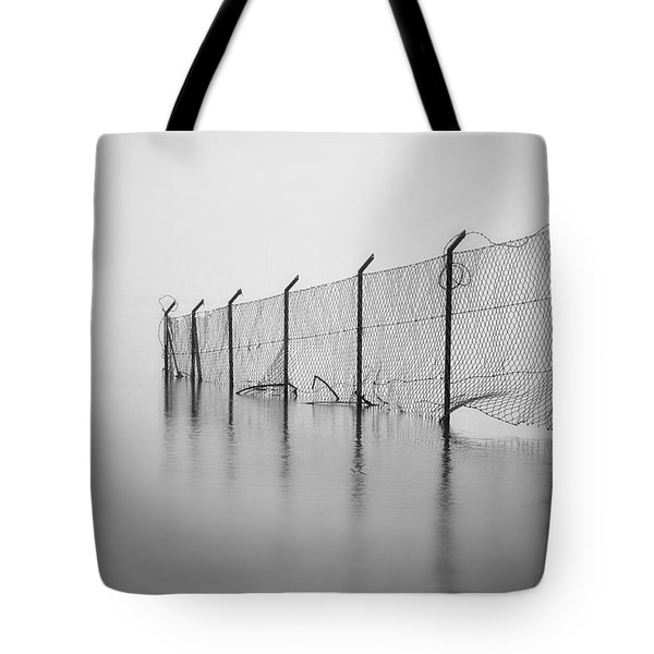 Wire Mesh Fence Tote Bag by Joana Kruse