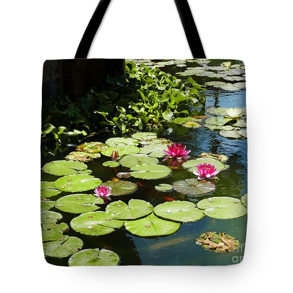 Wishes Among The Water Lilies Tote Bag by Methune Hively