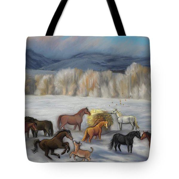 Wishing You Peace  Joy  Abundance And Love Throughout The New Year Tote Bag by Dawn Senior-Trask