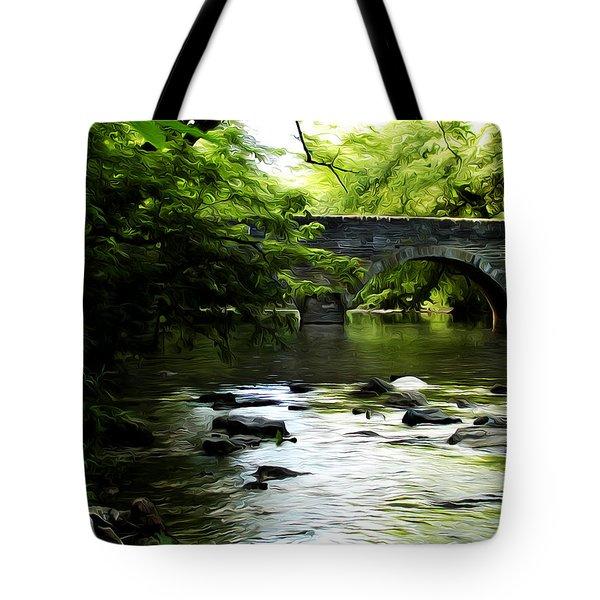 Wissahickon Bridge Tote Bag by Bill Cannon