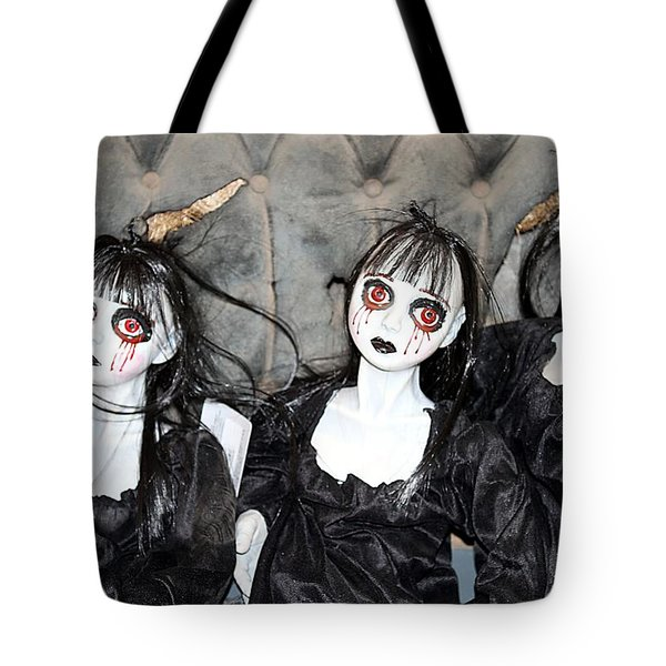 Witches Of Hallow's Eve Tote Bag by Elizabeth Winter