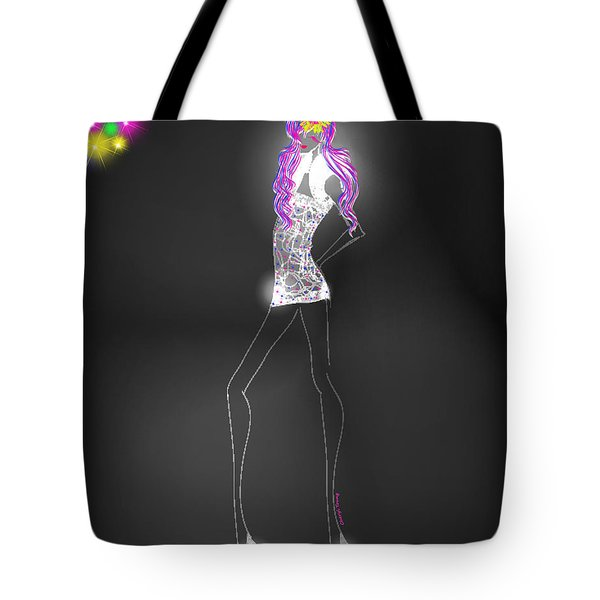 Woman 12 - Clubbin Tote Bag by Cheryl Young