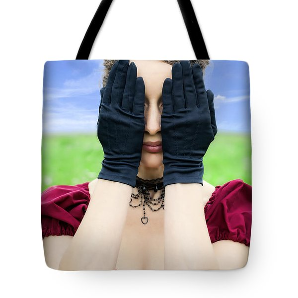 Woman Hiding Tote Bag by Joana Kruse