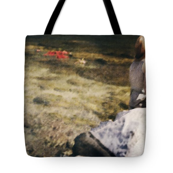Woman In A River Tote Bag by Joana Kruse
