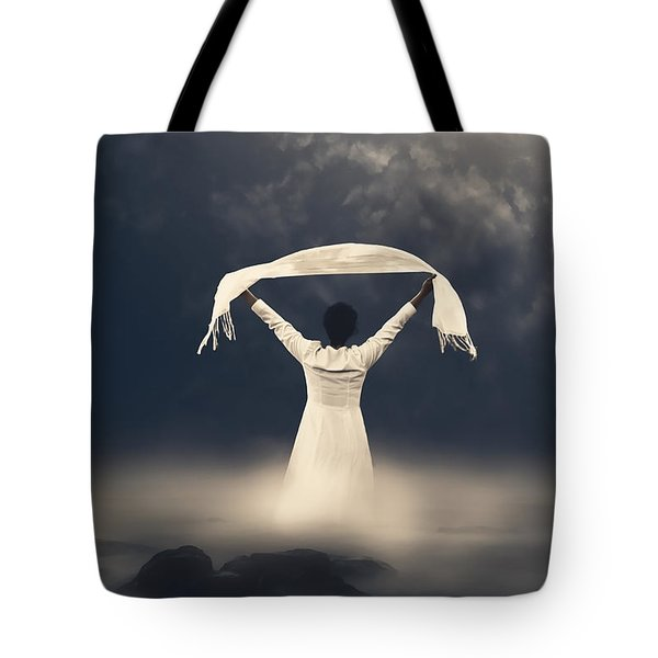 woman in water Tote Bag by Joana Kruse