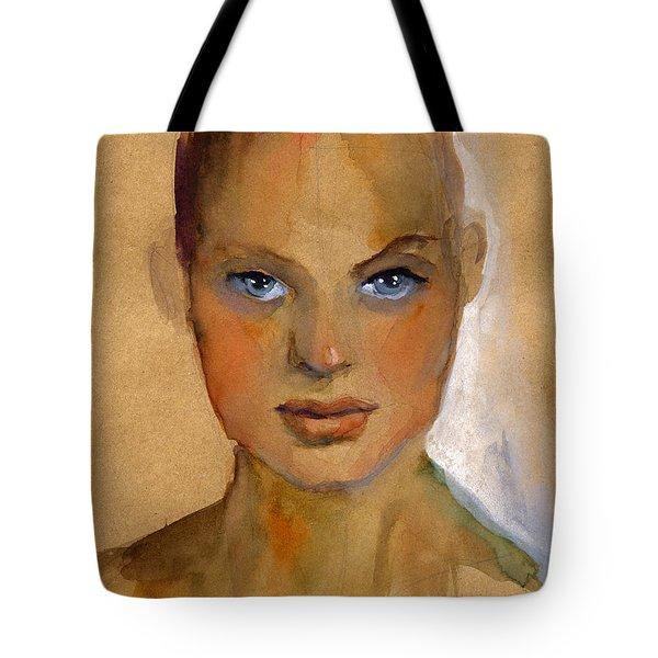 Woman Portrait Sketch Tote Bag by Svetlana Novikova