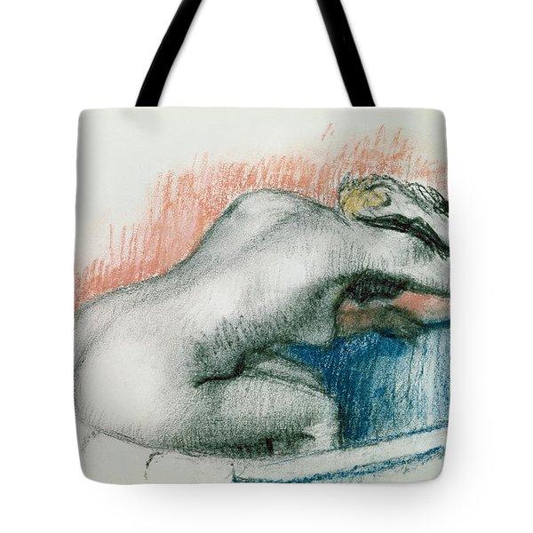 Woman Washing In The Bath Tote Bag by Edgar Degas