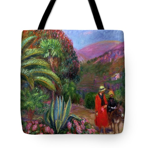 Woman With Child On A Donkey Tote Bag by William James Glackens