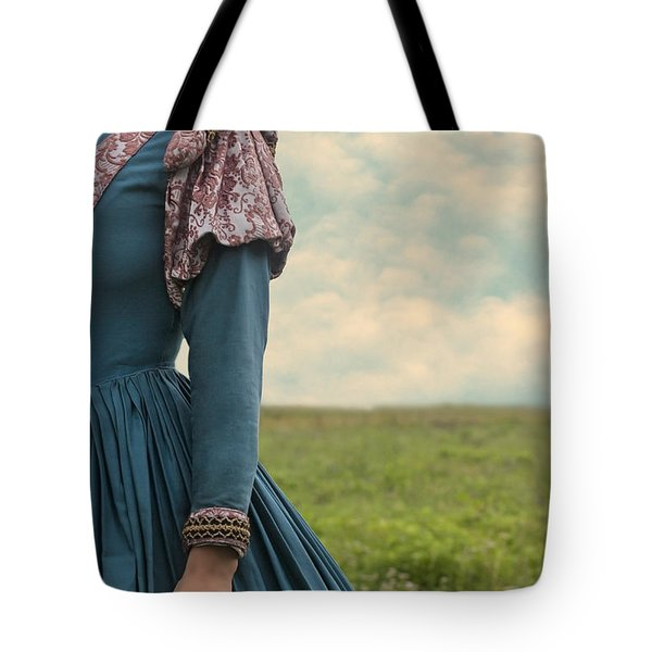 Woman With Renaissance Dress Tote Bag by Joana Kruse