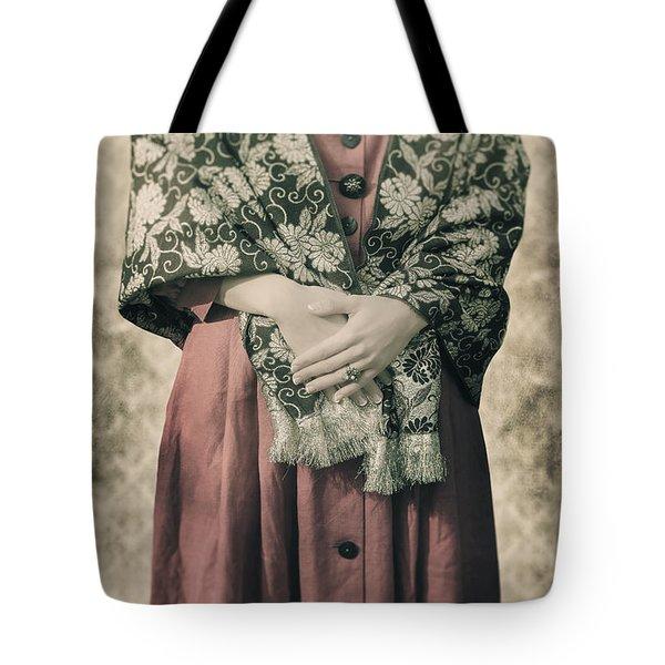 Woman With Shawl Tote Bag by Joana Kruse