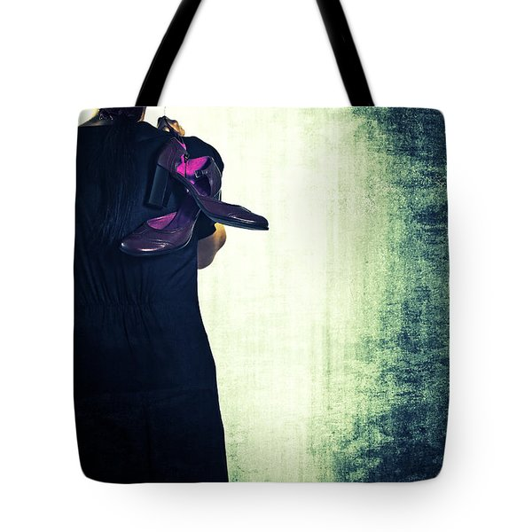 Woman With Shoes Tote Bag by Joana Kruse